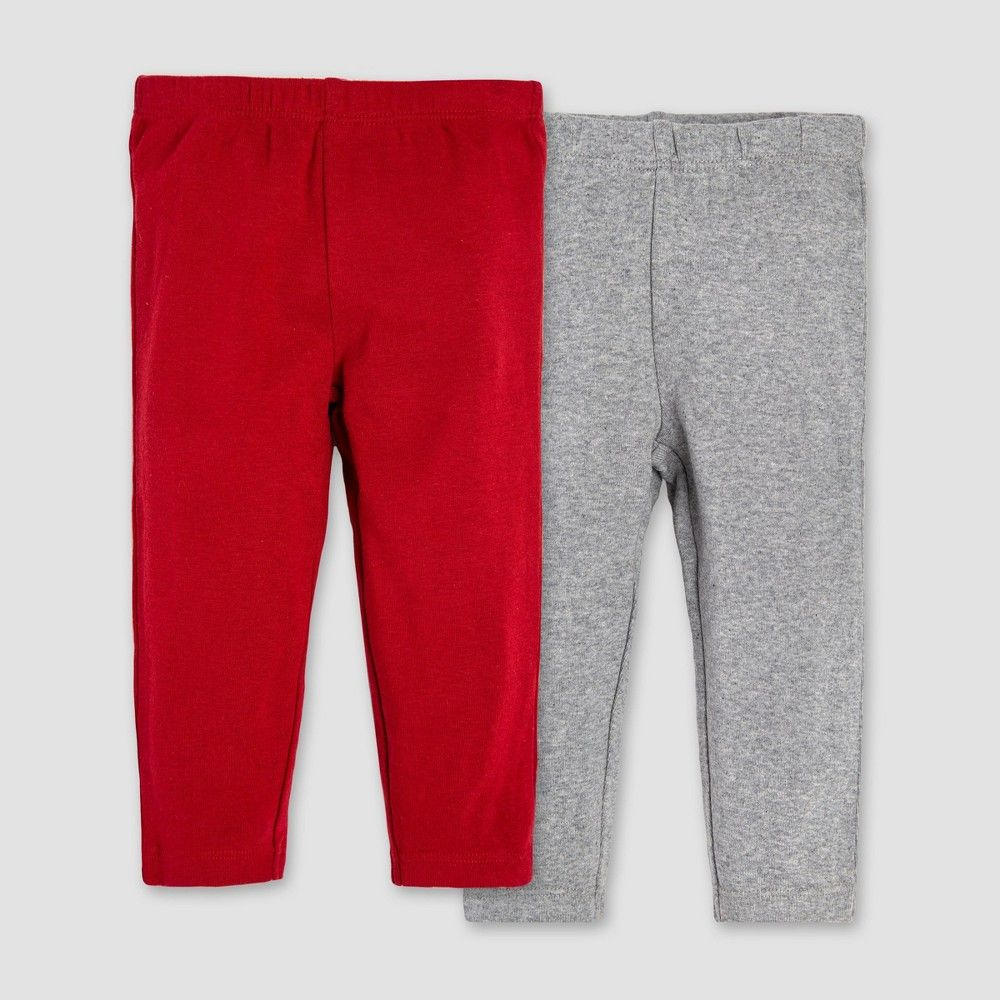 259856ee Burt's Bees Baby Organic Cotton 2pk Pants Set - Red/White 0-3M ...