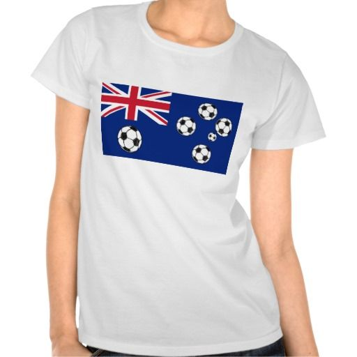 1b0cef7c7 Australian Flag Soccer balls T-SHIRT. The flag of Australia. The  Commonwealth Star and the five stars which represent the Southern Cross  constellation have ...
