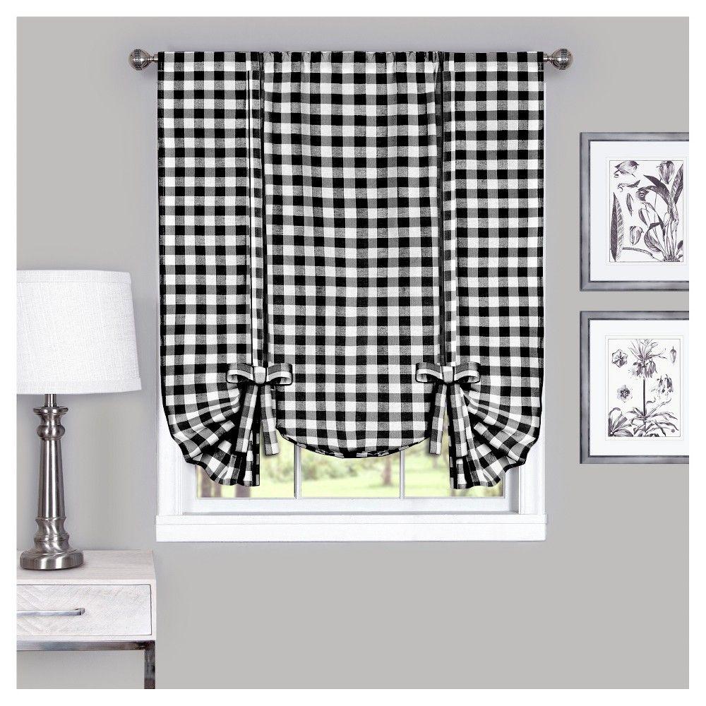 Beautiful Black and White Buffalo Check Curtains
