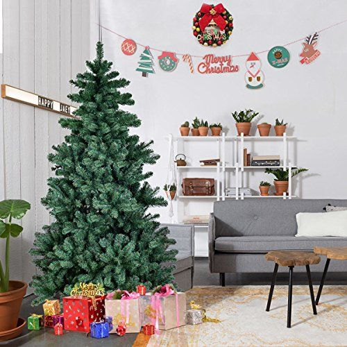 artificial pvc christmas tree premium hinged full tree with solid metal legs 6 ft you can find more details by visiting the image link