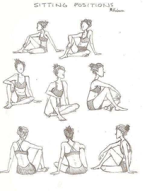 48 Ideas Drawing Poses Girl Sitting Em 2020 Com Imagens
