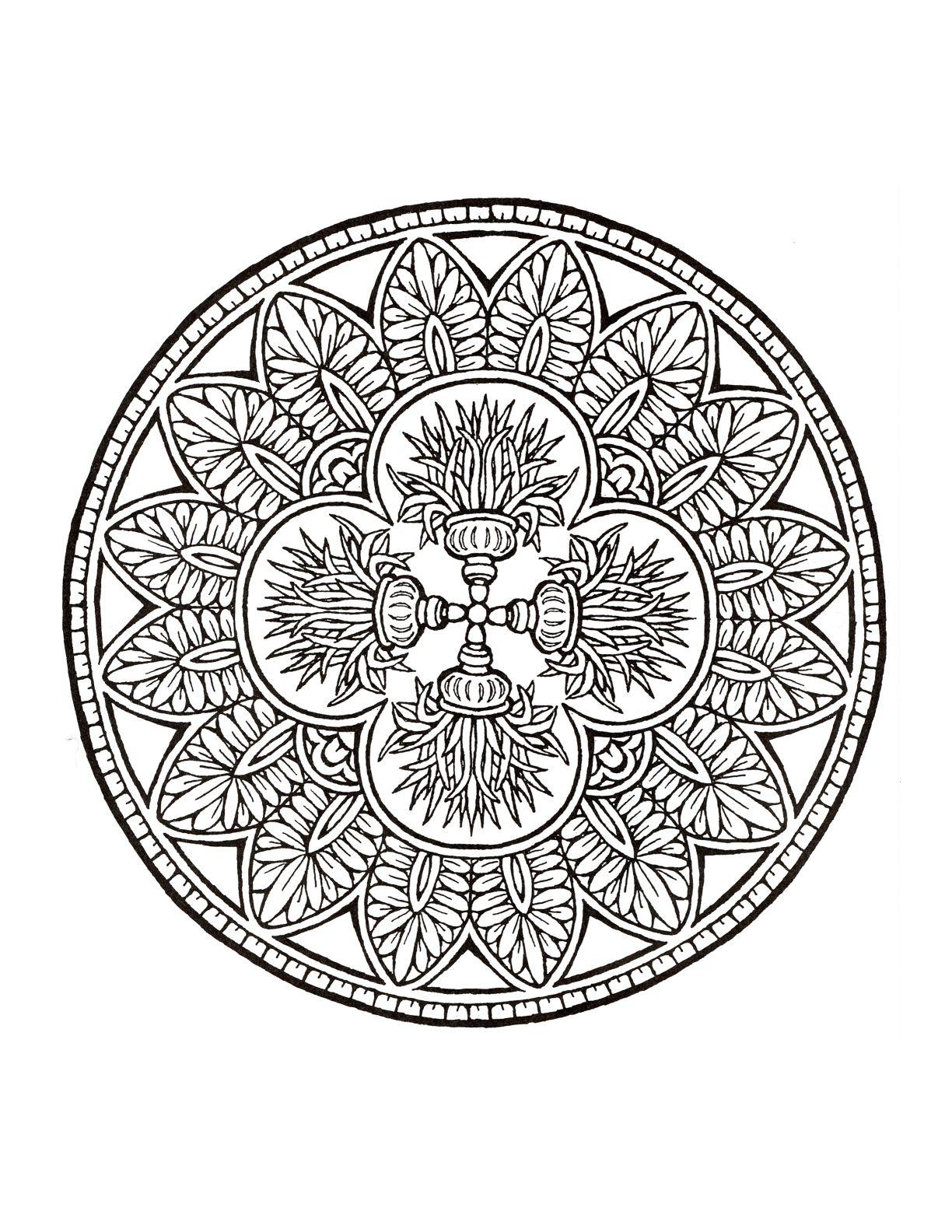 Mystical Mandala Coloring Book Mandalas Pinterest