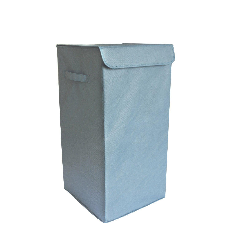 Panier A Linge Plastique Pliable Bleu L 30 X H 55 X P 30 Cm Panier A Linge Plastique Panier Et Plastique