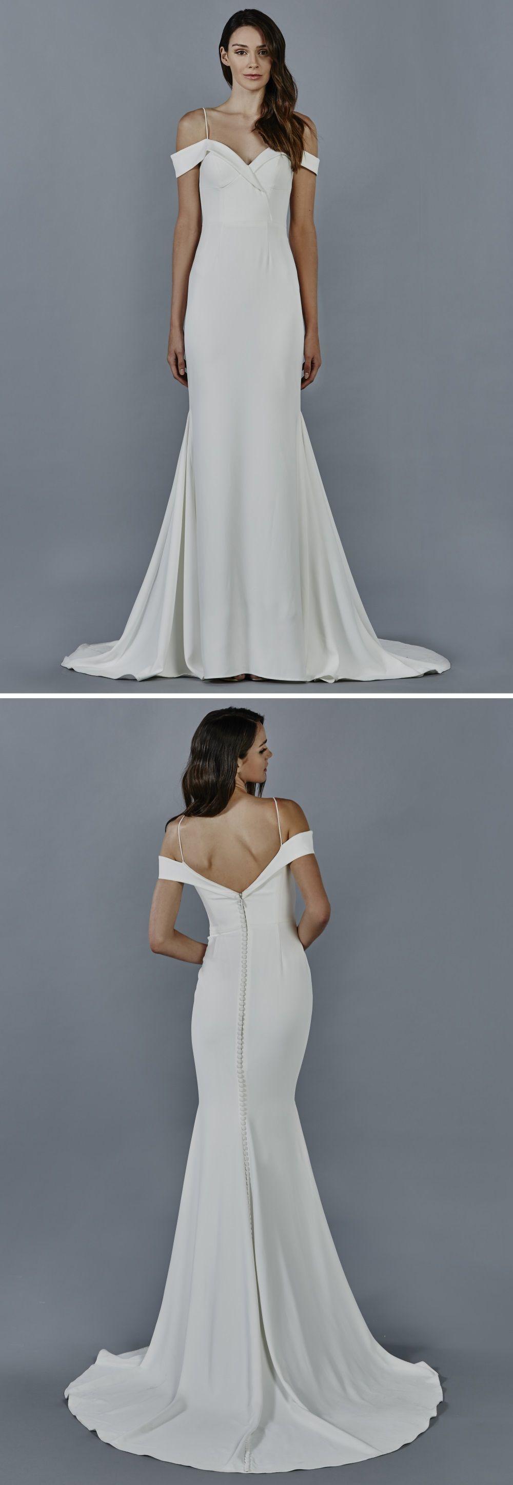 Kelly Faetanini Phoebe Crepe Fabric Wedding Dress