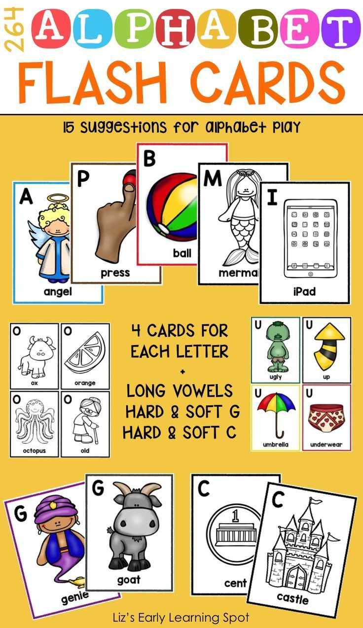 264 Alphabet Flash Cards 15 Alphabet Activity Suggestions