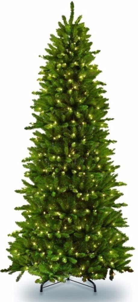 Pre Lit Slim Fraser Fir Artificial Christmas Tree 350 Clear Lights Home Decor Christmastree Artificial Prelit S Artificial Christmas Tree Fraser Fir Lights