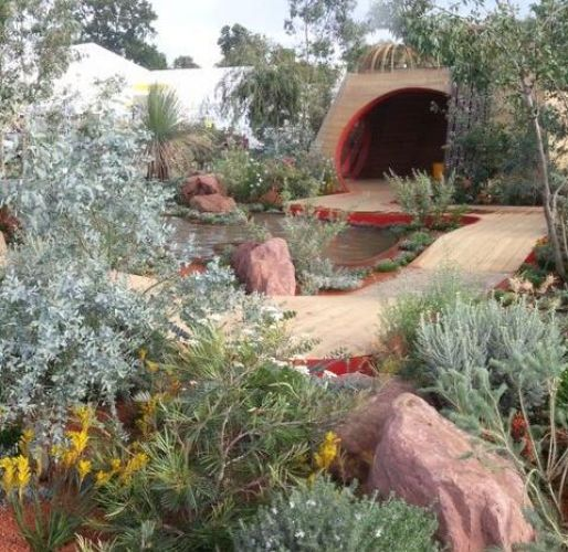 the completed essence of australia show garden features