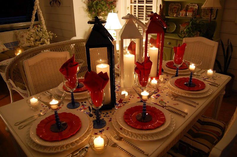 Tablescape For The 4th Of July One Day I Ll Have My Cabin In The