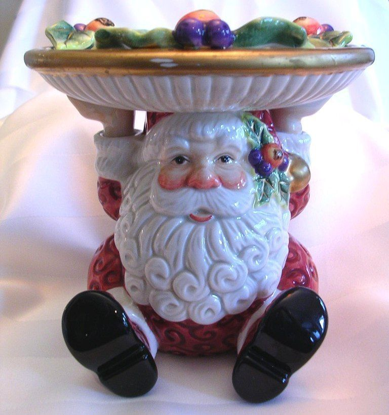 Spode Christmas Tree Candle Holder: Fitz & Floyd Candle Holder