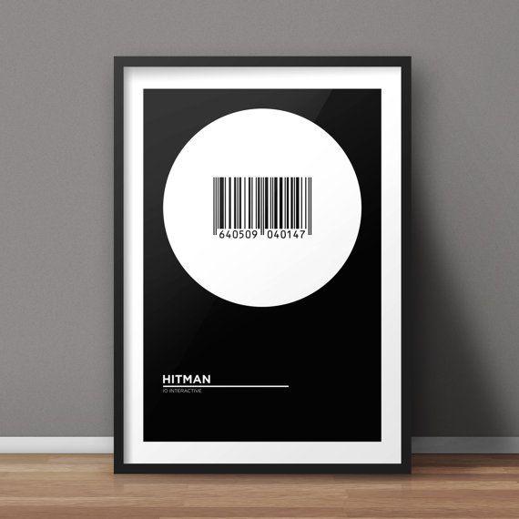 Hitman Poster, Game Poster, Minimalist Poster, Flat Poster Design, Clean Poster Design, Digital Printable Poster