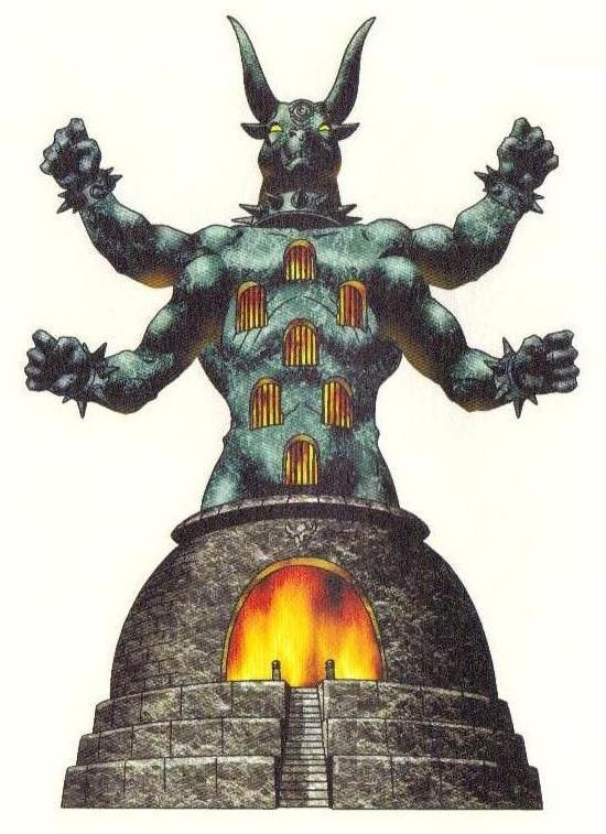 Moloch Also Known As Chemosh Refrences And Inspirations Sword