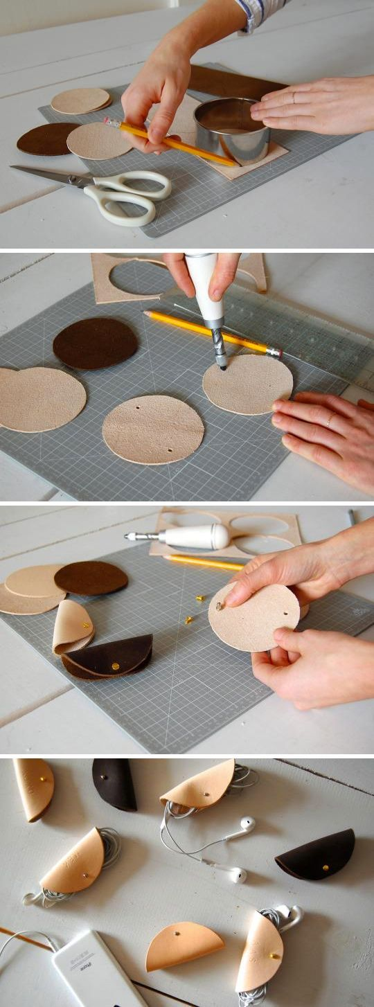 Photo of DIY This Chic Leather Holder for Your Earphones