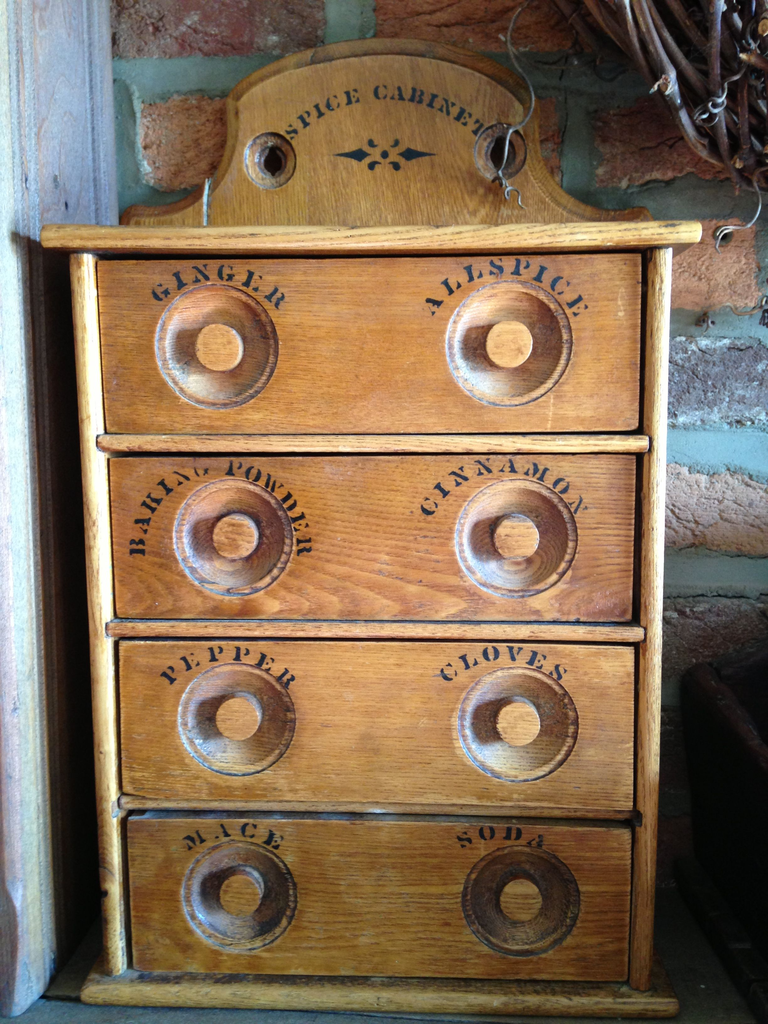 Love these 4 drawer spice cabinets Spice boxes & more
