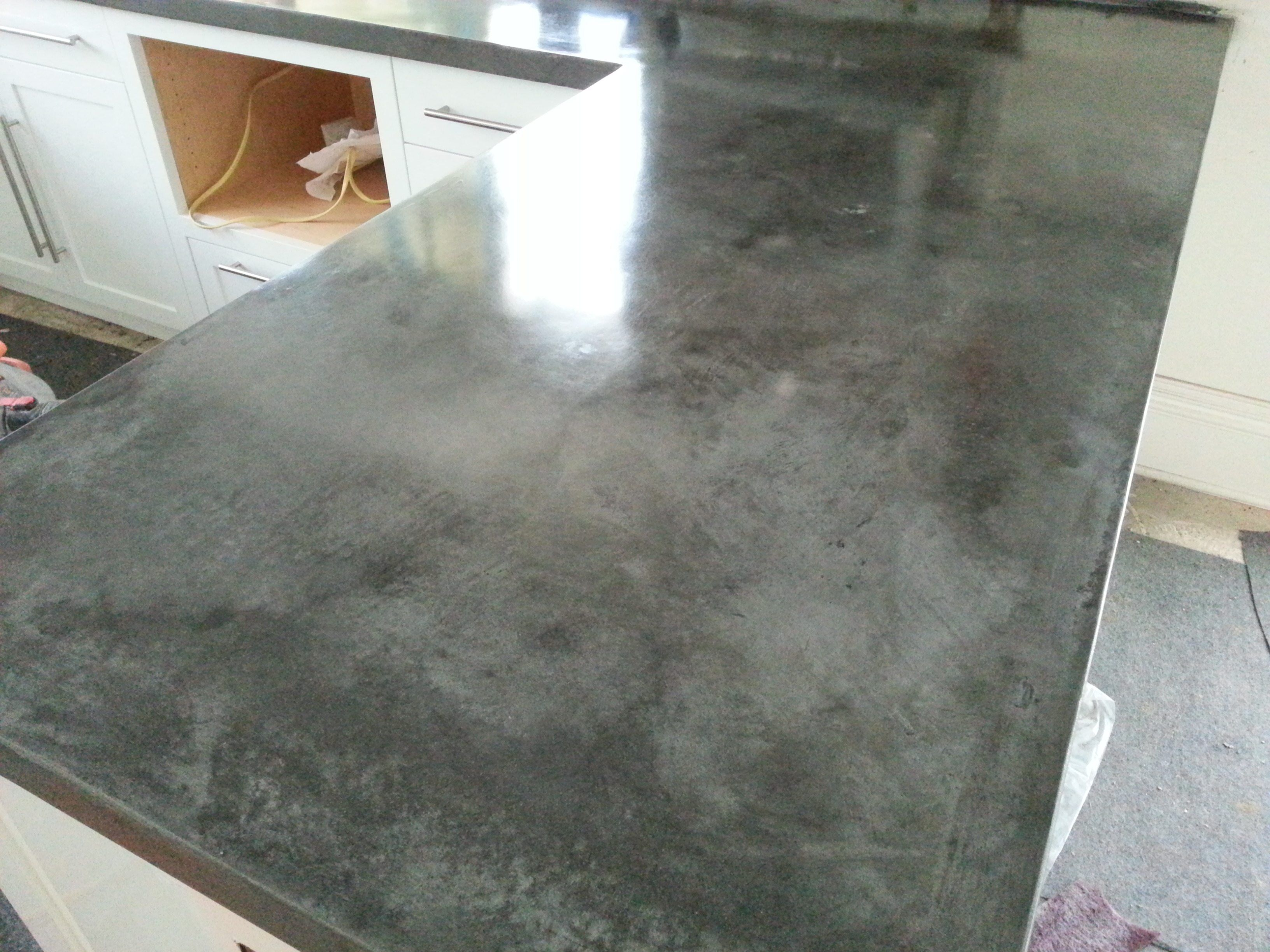 Dad S Tired Of Drab Kitchen Countertop Transforms It Into