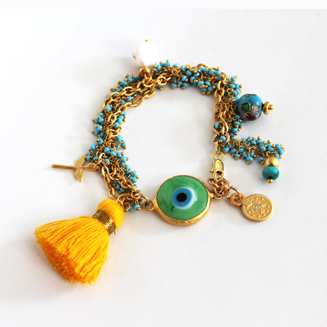 24K Gold Plated Persian Evil Eye Protecting