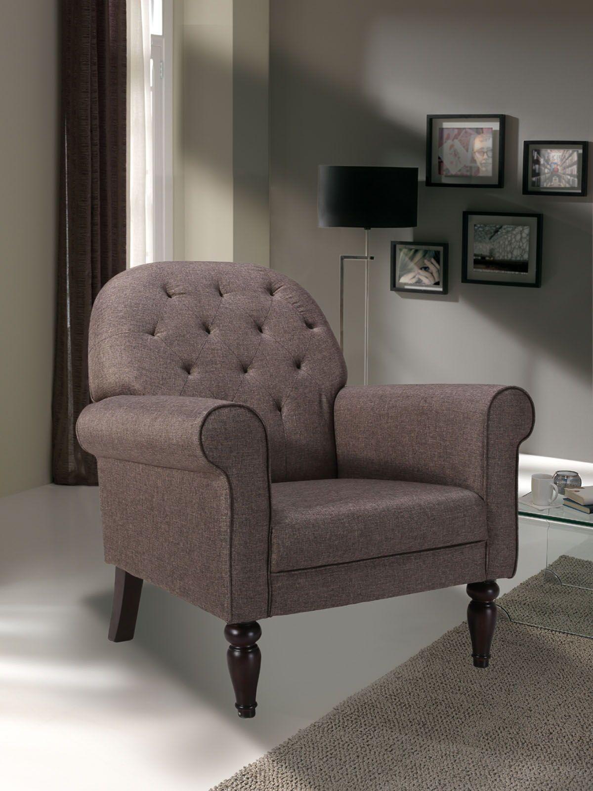 barato prar sillon tapizado en tela color