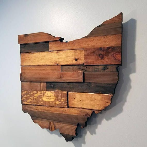 Amazing Represent OHIO with this handmade Wood Ohio sign This Ohio Sign is sure to add great rustic charm to your decor or serve as the perfect Rustic Ohio t Review - Model Of rustic wood decor Modern