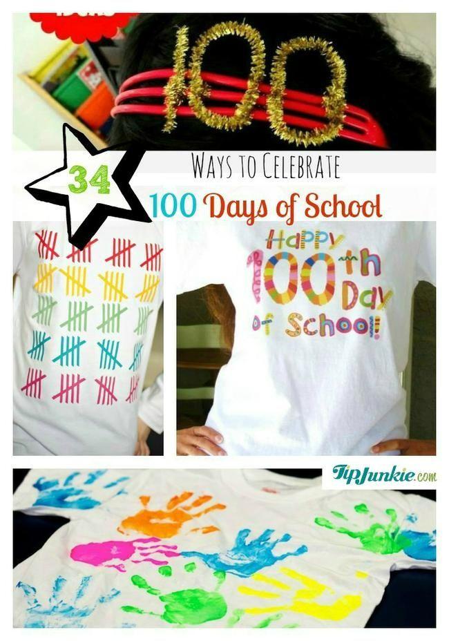 34 Great Ways to Celebrate 100 Days of School | Worksheets, School ...