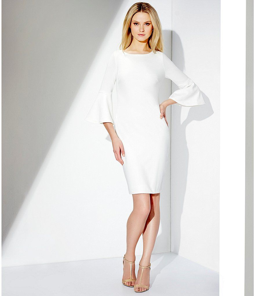34 Sleeved ScoopNeck Long Mother Of The Bride Dress With