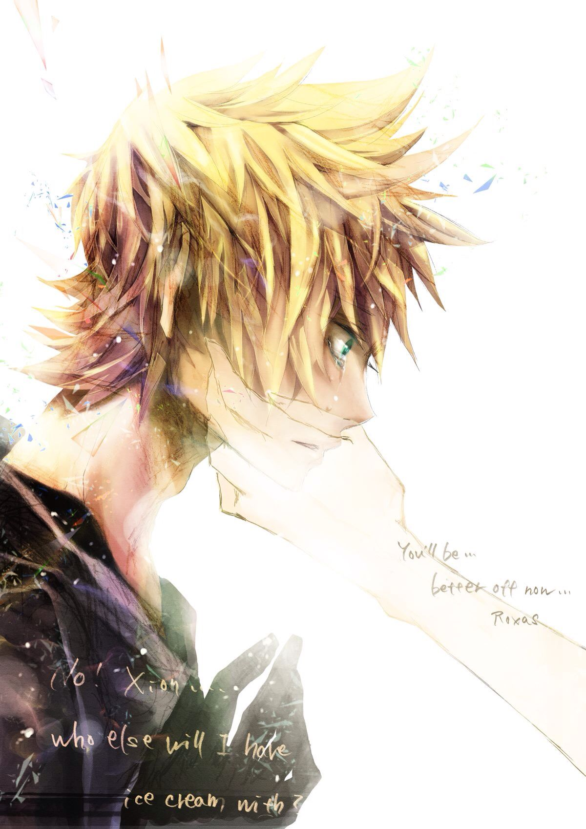 Anime boy crying!