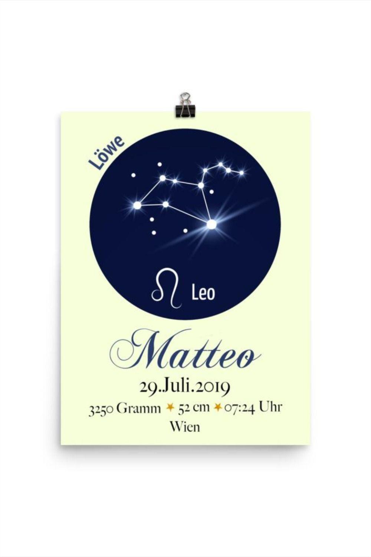 Mit den Geburtsdaten und dem Sternchenzeichen wird der