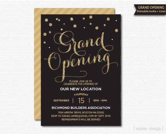 Grand Opening Invitation Corporate Invitation Company Invitation Office Invitation Printable Invitation Grand Opening Party New Location Convite Ideias Inauguracao