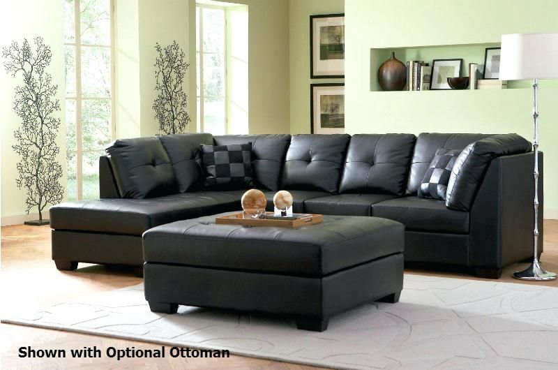 Black Sectional Sofas Black Leather Sofa Living Room Sofa