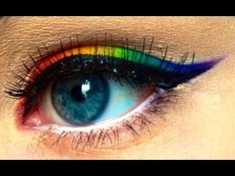 makeup how to perfect ombre rainbow eyeliner  makeup
