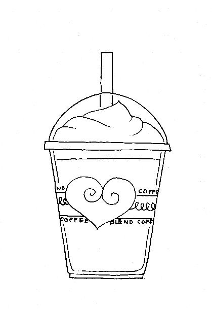 Frappucino Digi Stamps Coffee Cafe Milkshake Digital Stamps