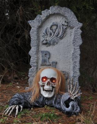 HALLOWEEN PROP - Skull Groundbreaker with Tombstone - FREE SHIPPING