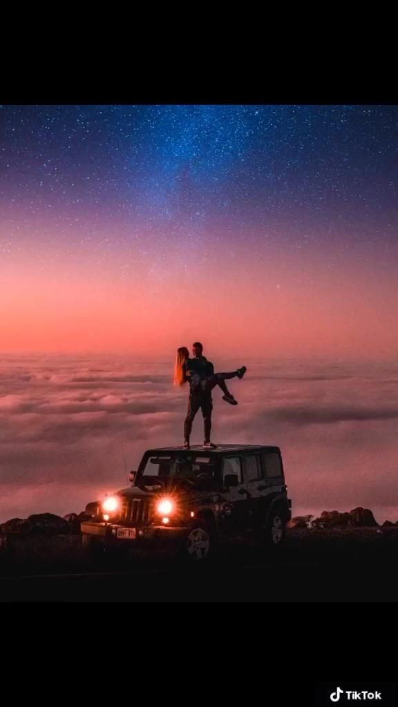 Romantic couple date at the top of Haleakala on Ma