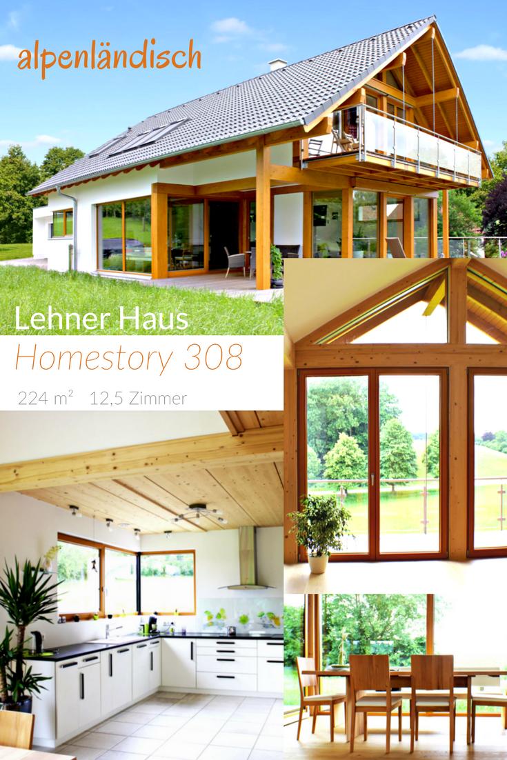 Modernes Fachwerkhaus im alpenländischen Stil \