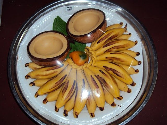 Image result for wedding aarthi plates with natural fruits