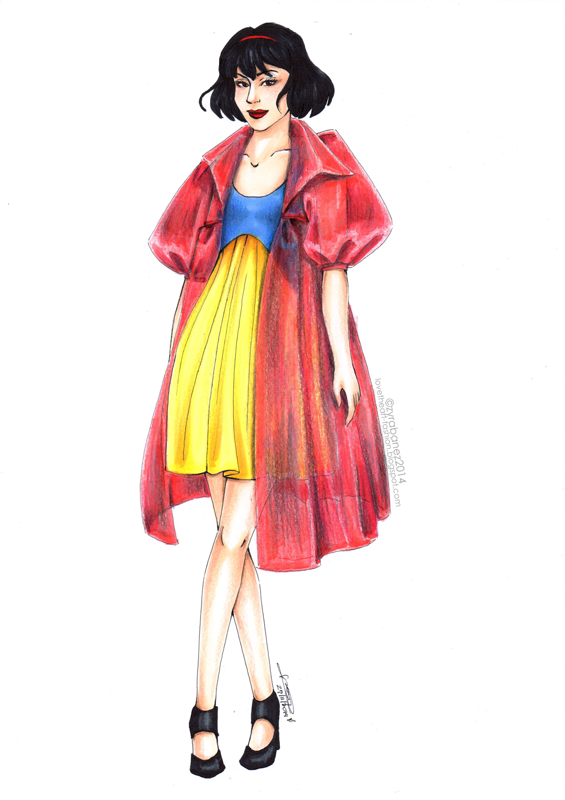 Lovetheart - Fashion Illustration Princess Snow White