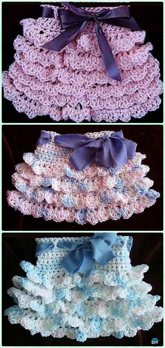 Crochet Ruffled Skirt Free Pattern Video Crochet Girls Skirt
