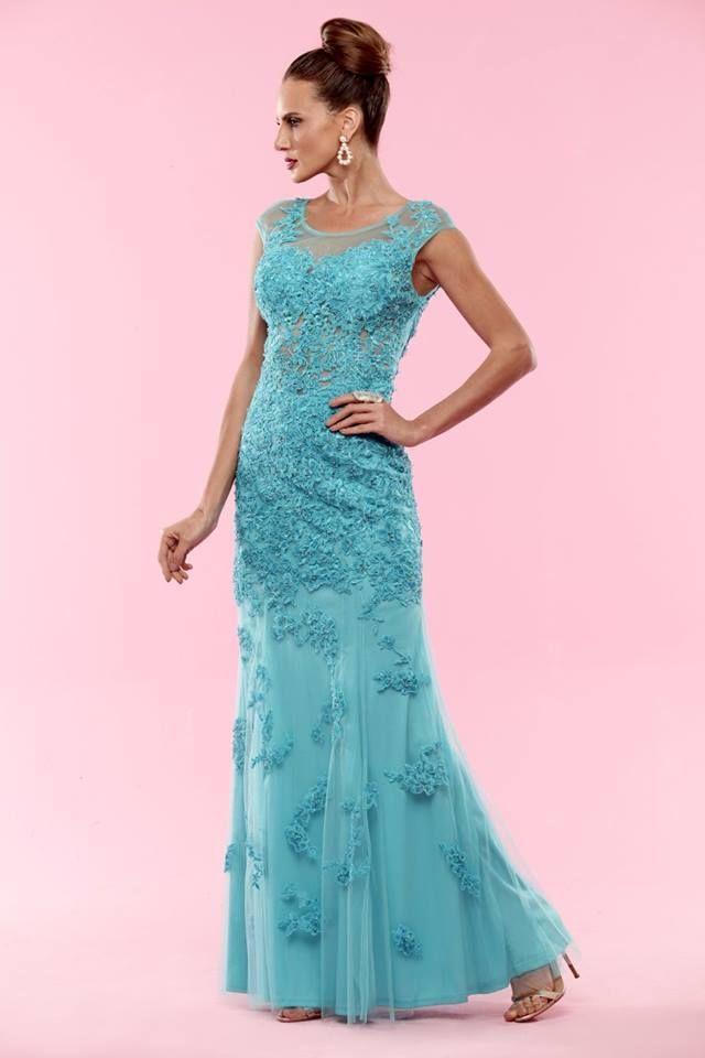 Disponível nas cores azul turquesa, verde e coral | vestido para ...