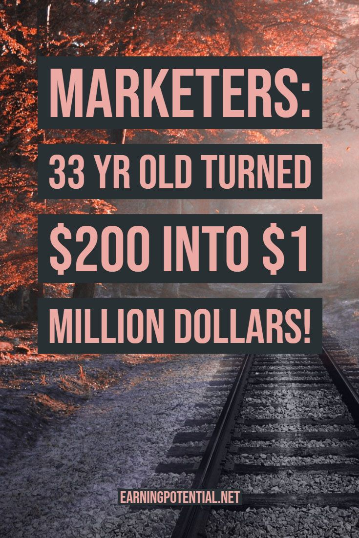 MARKETINGS: 33 Jahre alt, verwandelten 200 Dollar in 1 Million Dollar!   – Make Money