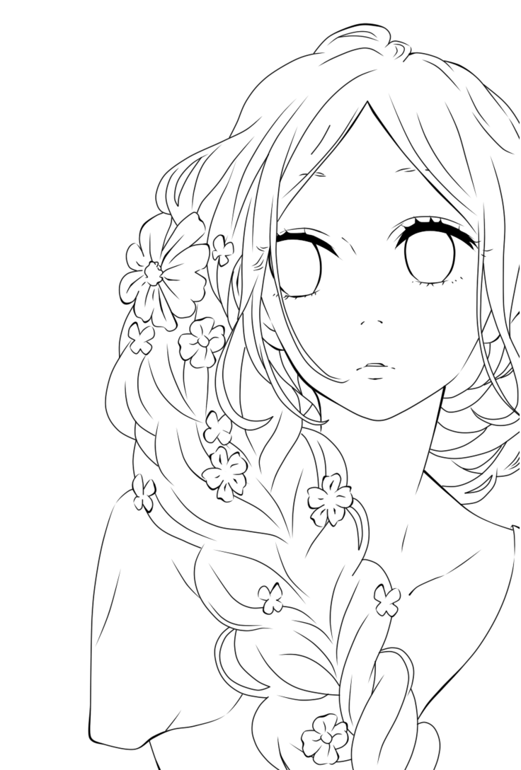 Risunki Anime Lineart Transparent Art Cute Coloring Pages