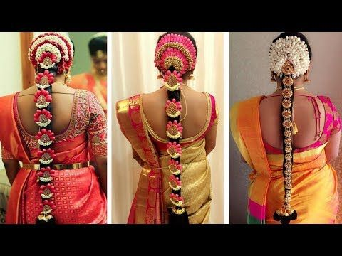 Indian Bridal Hairstyles Wedding Hairstyles Step By Step Bridal Bun South Indian Hairstyle Bridal Hairstyle Indian Wedding South Indian Wedding Hairstyles
