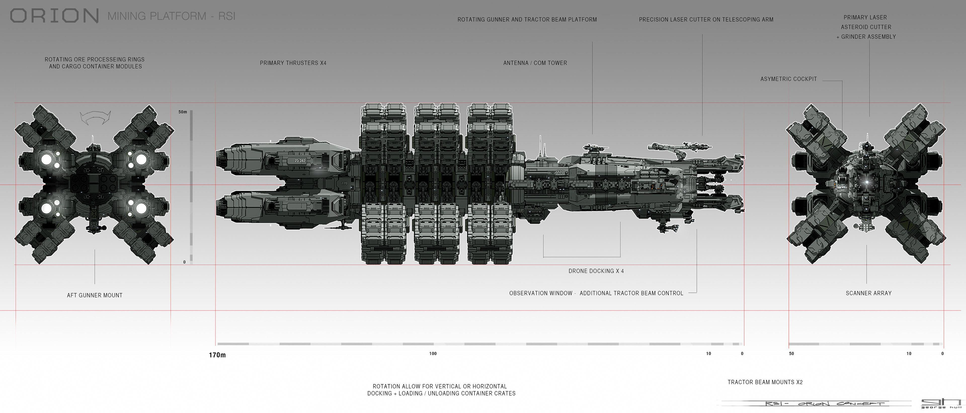 Star Citizen | Orion Mining Ship - Concept Art