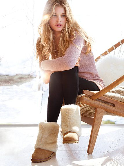UGG® Australia Mailyn Boot #VictoriasSecret this looks like the perfect cozy outfit for winter