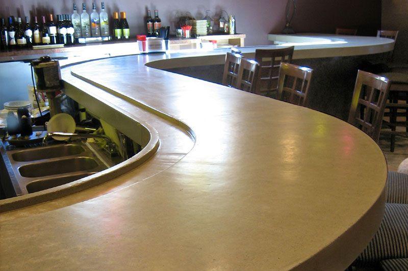 Bar Drip Tray In Countertop Basement In 2019 Concrete