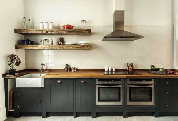 Deco] Una cocina industrial de elegancia British | Casa recicladas ...