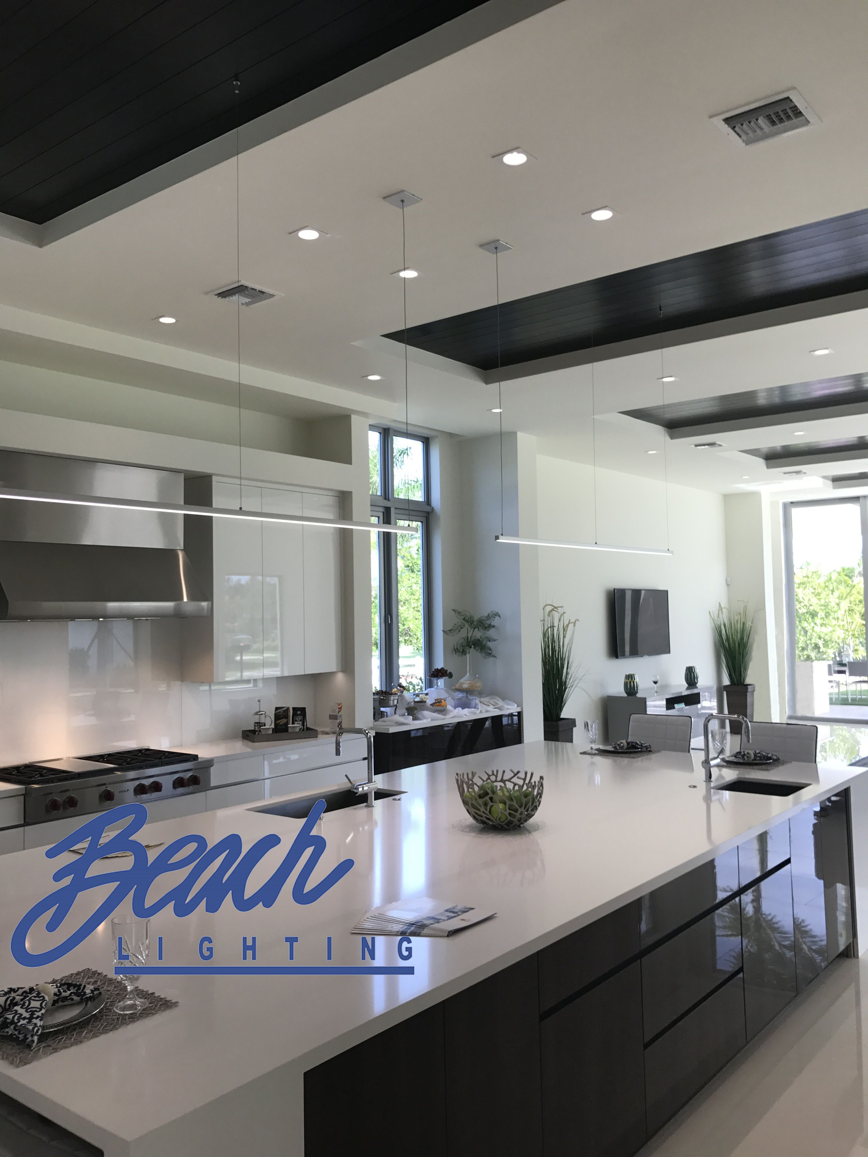 What A Beautiful Kitchen Done By Beach Lighting These Are 4 Inch Recessed Lights You Can Find Them On Our Website Under R4 593mw