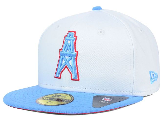 000f61f7acb Houston Oilers New Era NFL 2 Tone White Team 59FIFTY Cap Hats