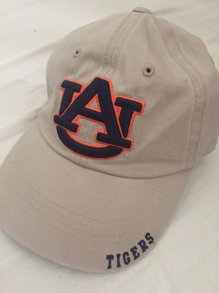78787d82615 125p NCAA Auburn University Tigers Beige Velcro Back Baseball Cap One Size  Hat  CaptivatingHeadGear