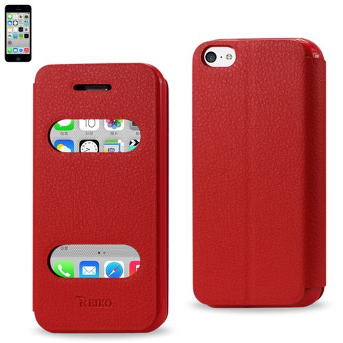 Reiko Fitting Case Lychee Pattern For Iphone5C Red