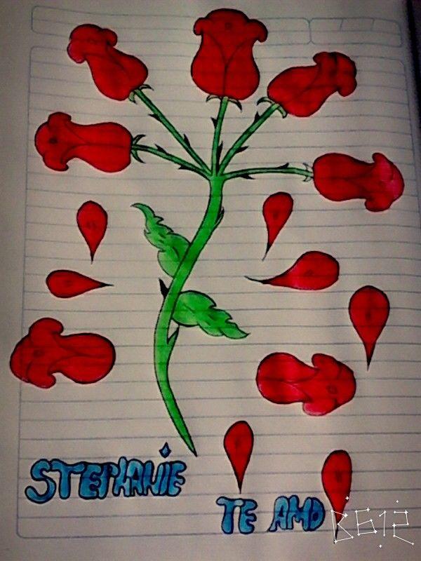 Pintada a color inspirada de mi amor