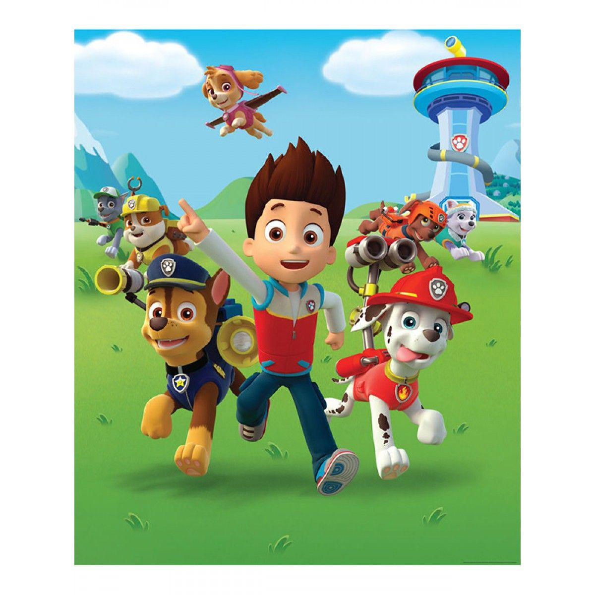 Official Paw Patrol Merchandise Transform Your Room With This Designer Wallpaper Mural Is Made Up Of Eight Panels For Easy Application