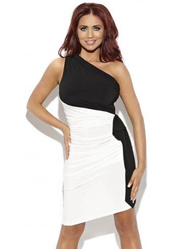 Amy Childs Lucy Black & White One Shoulder Dress | Amy Childs ...